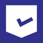 purple and white dates checker logo